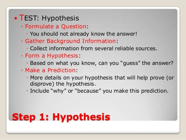 Amazing How To Write An Hypothesis For A Science Fair Project