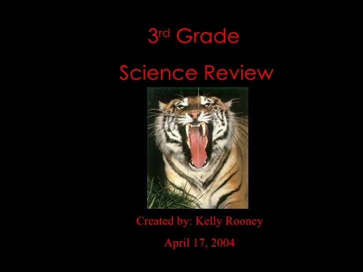 3 rd  Grade  Science Review Created by: Kelly Rooney April 17, 2004