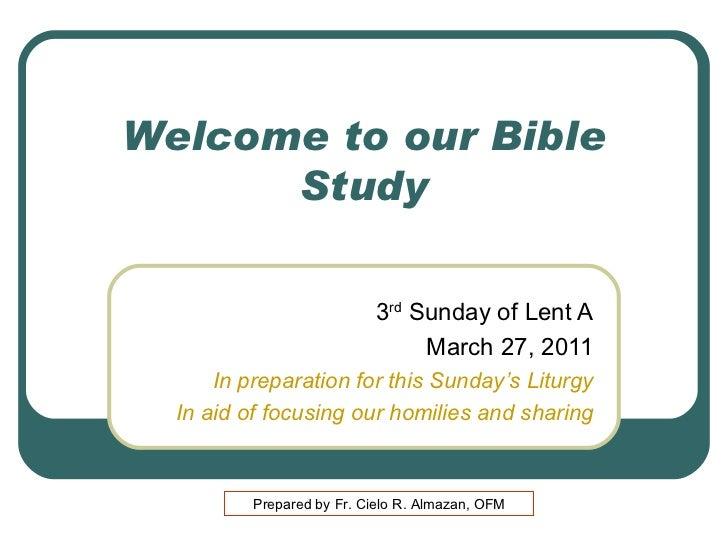 3rd  Lent  A 1