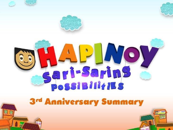 Hapinoy 3rd Year Anniversary