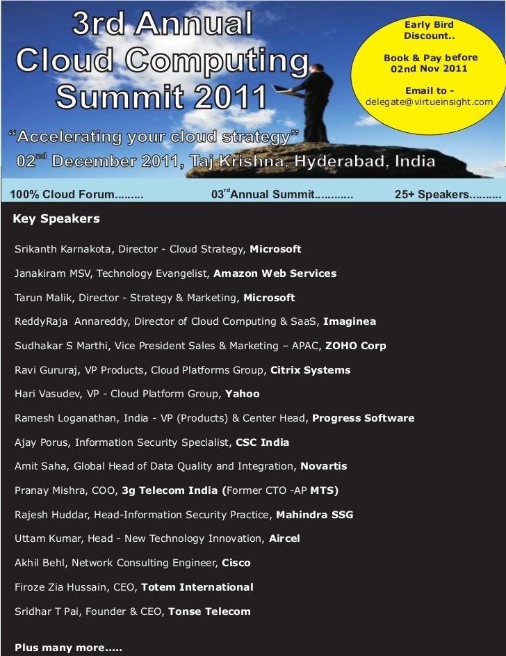 3rd Annual Cloud Computing Summit 2011
