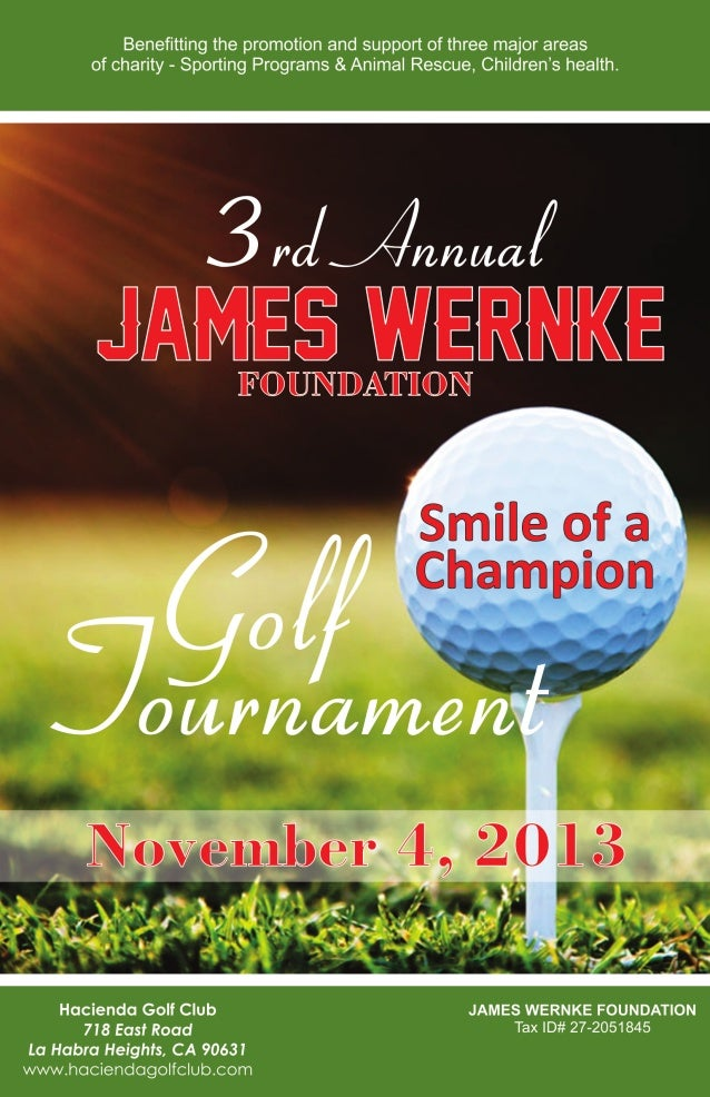 3rd Annual James Wernke Foundation Golf Tournament