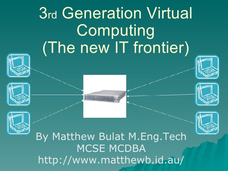 3rd Generation Virtual Computing