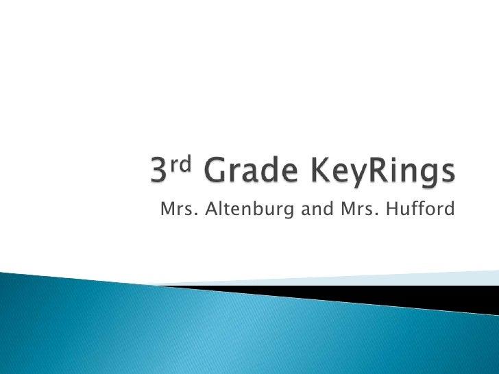 3rd Grade KeyRings<br />Mrs. Altenburg and Mrs. Hufford<br />