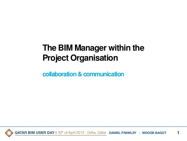 3rd Qatar BIM User Day - The BIM Manager within the Project Organisation