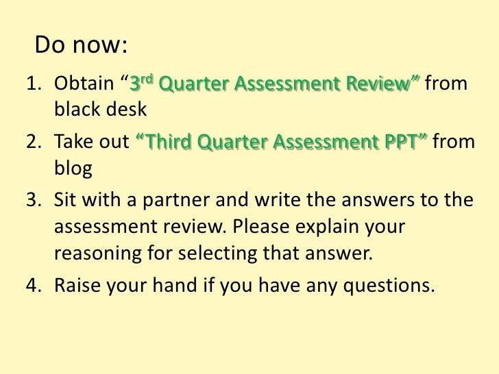 3rd quarter review questions