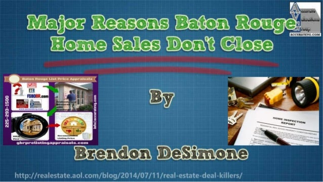3 Reasons Baton Rouge Home Sales Don't Close