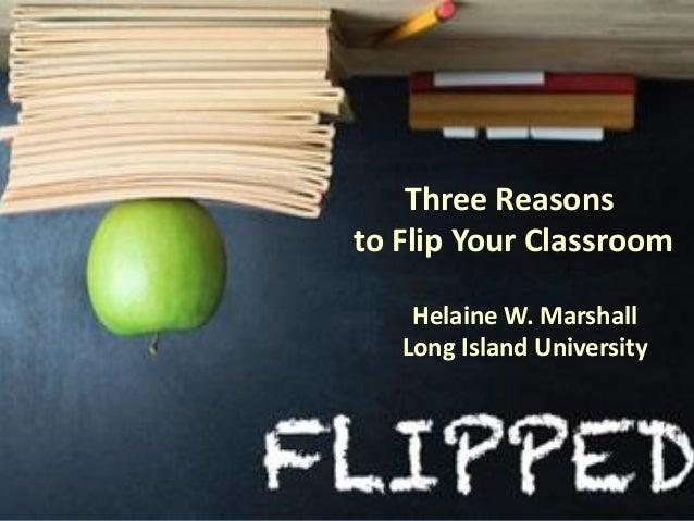 Three reasons to flip your classroom - TESOL 2013