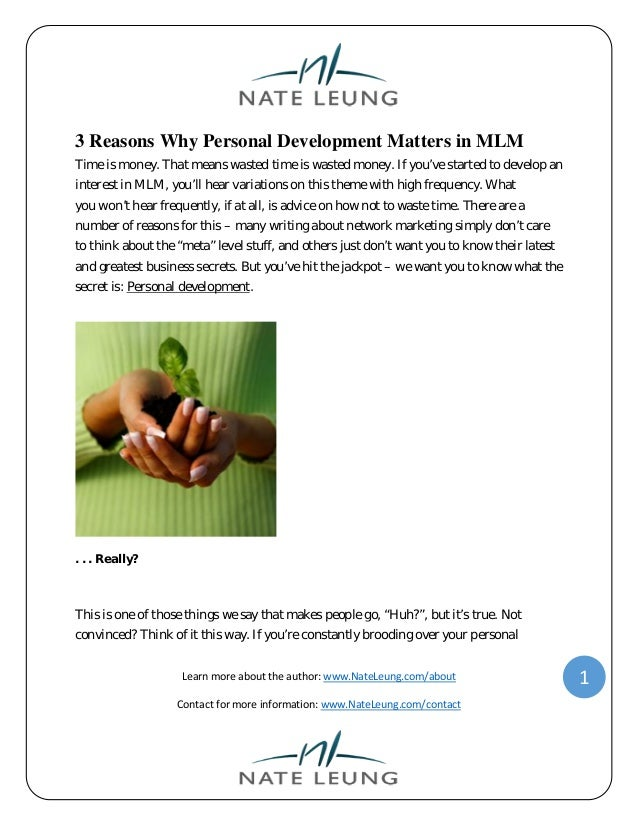 3 reasons why personal development matters in mlm