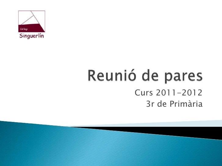 3r d'Educació Primària
