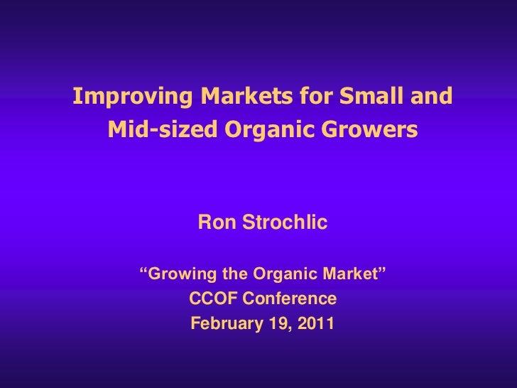 Ron Strolic organic marketing barriers