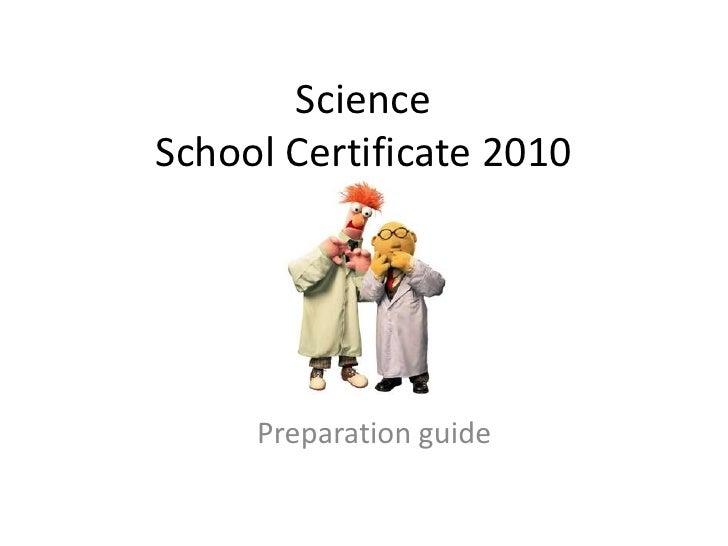 Science - School Certificate Preparation
