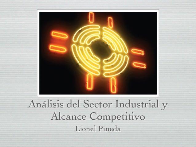 Análisis del sector industrial y definición de la industria relevante Lionel Pineda