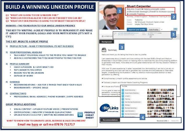 LinkedIn 3 sheet cheat sheet