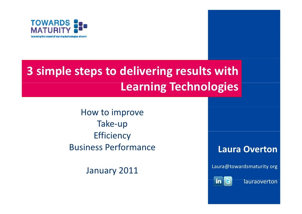 3 simple steps to delivering results with                   Learning Technologies                  L     i T h l i        ...