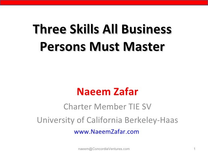 3 skills all biz people must master