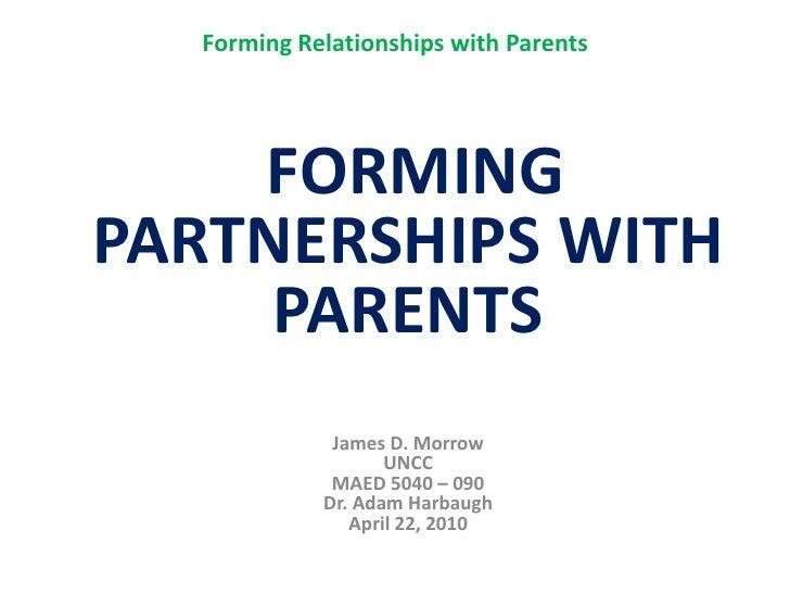3 slide test   presentation forming partnership with parents