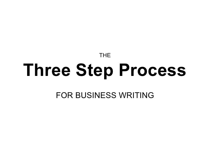three step creative writing process The writing process is a term used in teaching in 1972 they came to three results from their study, which suggests that good writers envelop the three following characteristics when solving their rhetorical problems.