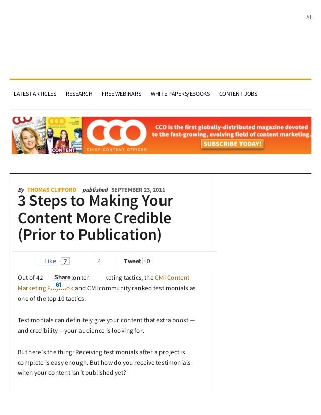 AboutLATEST ARTICLES    RESEARCH        FREE WEBINARS    WHITE PAPERS/EBOOKS   CONTENT JOBS By THOMAS CLIFFORD published S...