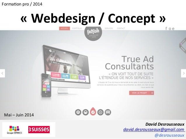 David  Desrousseaux   david.desrousseaux@gmail.com   @desrousseaux   «  Webdesign  /  Concept  »   Mai ...