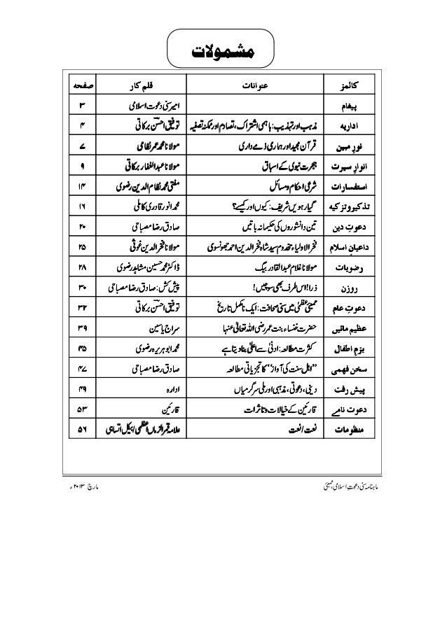 3 sunni dawateislami mar 2013