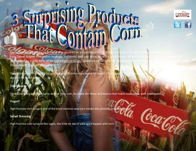 Sweet corn is a starchy vegetable that doubles as a functional food. Starchy means it is high in carbohydrate content. Fun...