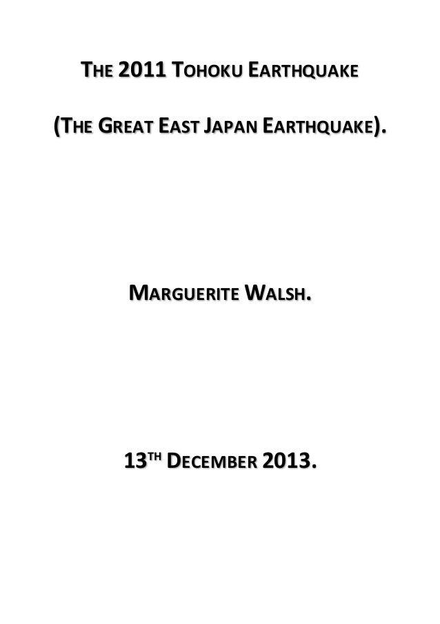 2011 Tohoku Earthquake short research paper? (Plate boundaries)?