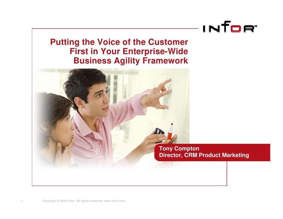 Poniendo en primer lugar la voz del cliente dentro de su modelo corporativo de agilidad del negocio
