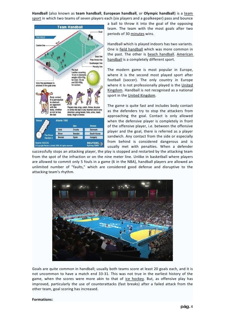 Handball History Olympics Handball Also Known as Team Handball European Handball or Olympic