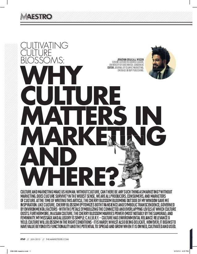 Why Culture matters in Marketing and where?