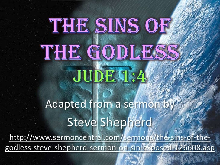 3 The Sins Of The Godless Jude 4