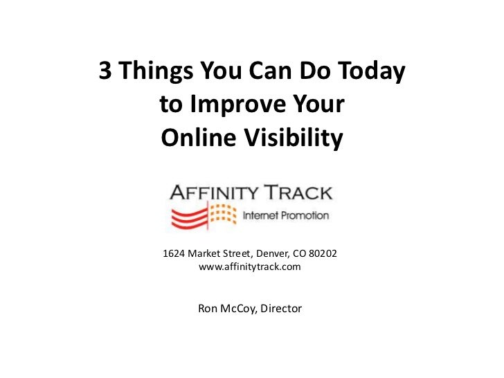 Denver Boulder SEO | 3 Things You Can Do Today to Improve Your Online Visibility