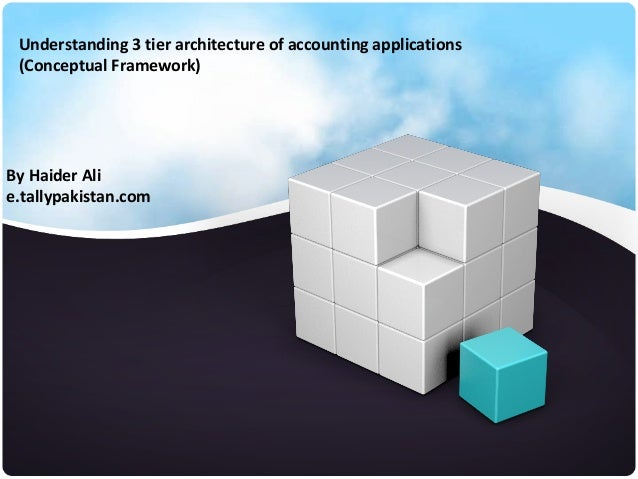 By Haider Alie.tallypakistan.comUnderstanding 3 tier architecture of accounting applications(Conceptual Framework)
