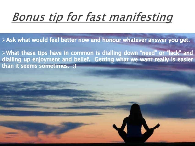 Manifesting law of attraction tips