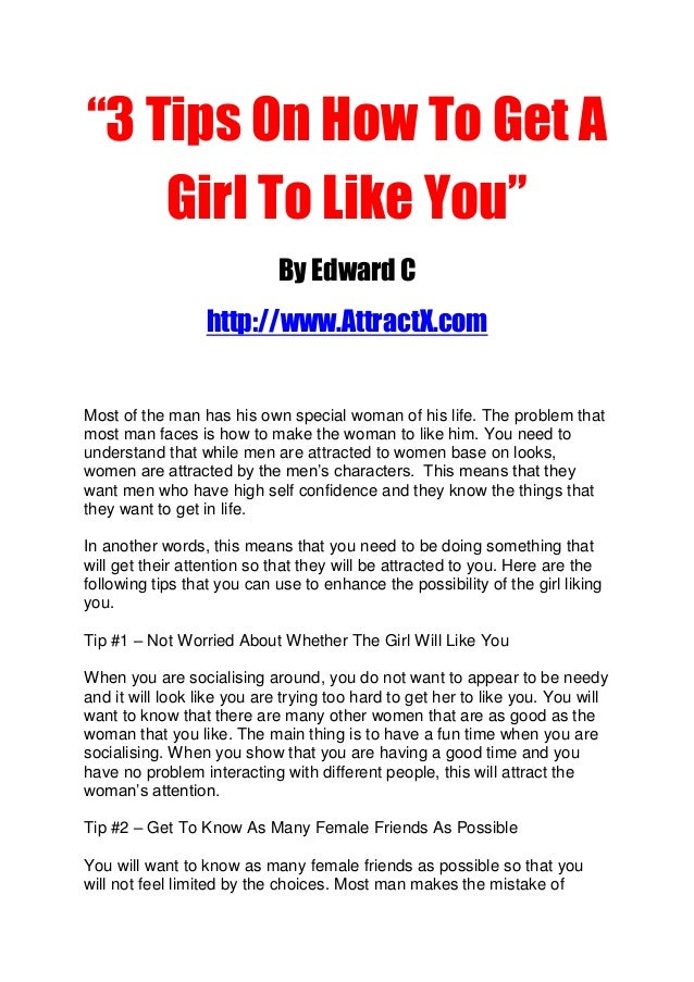 how to get a girl to like you video