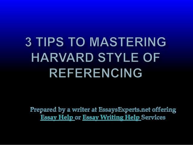 essay in harvard style