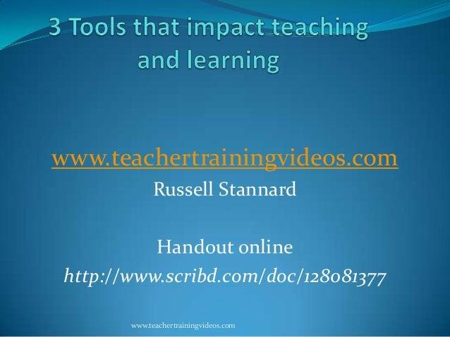 www.teachertrainingvideos.com Russell Stannard Handout online http://www.scribd.com/doc/128081377 www.teachertrainingvideo...