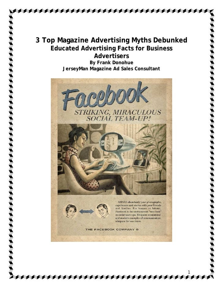 3 Top Magazine Advertising Myths Debunked    Educated Advertising Facts for Business                Advertisers           ...