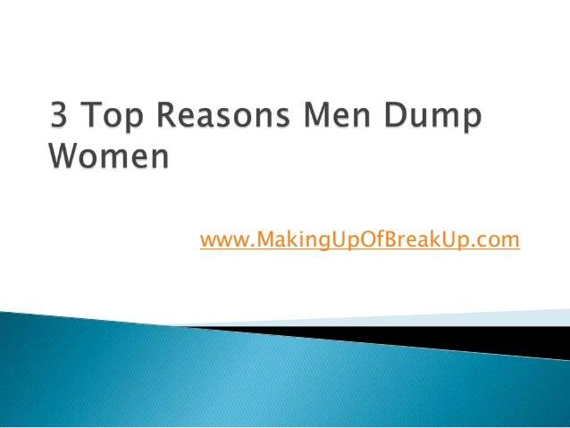 3 Top Reasons Men Dump Women