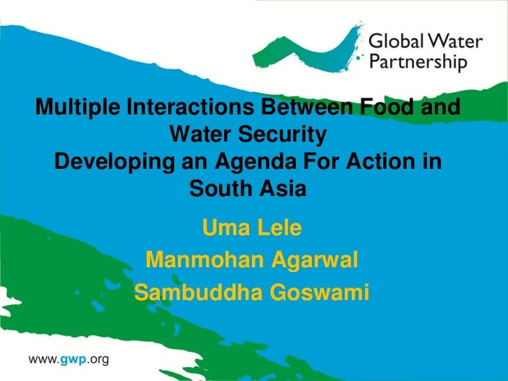 Multiple Interactions Between Food and             Water Security Developing an Agenda For Action in               South A...