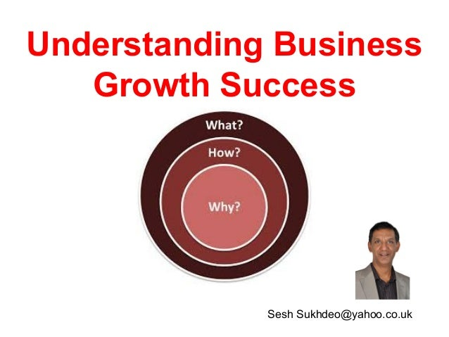 Understanding Business Growth Success  Sesh Sukhdeo@yahoo.co.uk