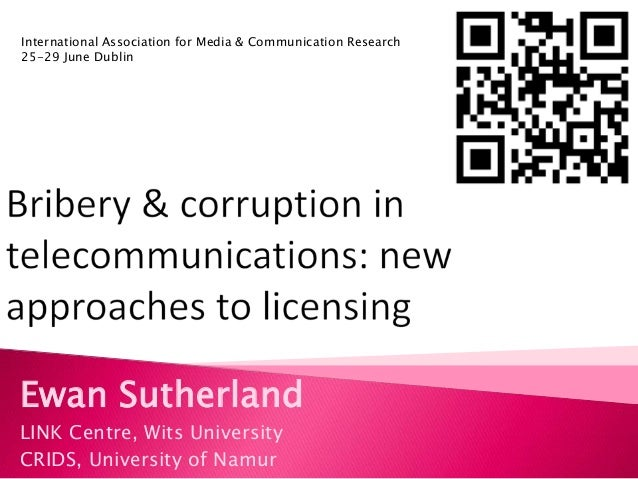 Bribery and corruption in telecoms: New approaches to licensing