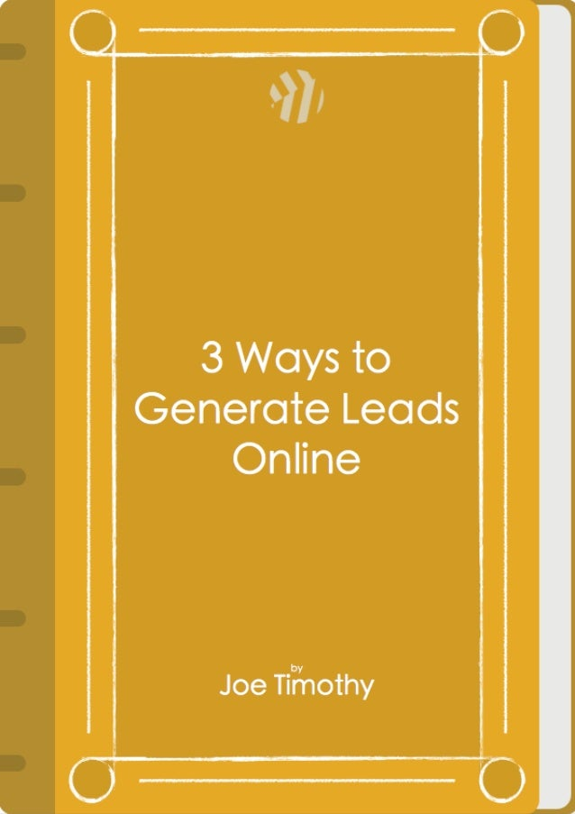 3 Ways to Generate Leads Online