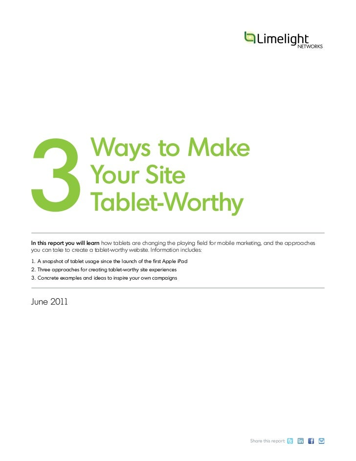 3 ways to make your site tablet worthy