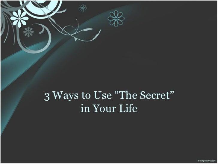 3 ways to use