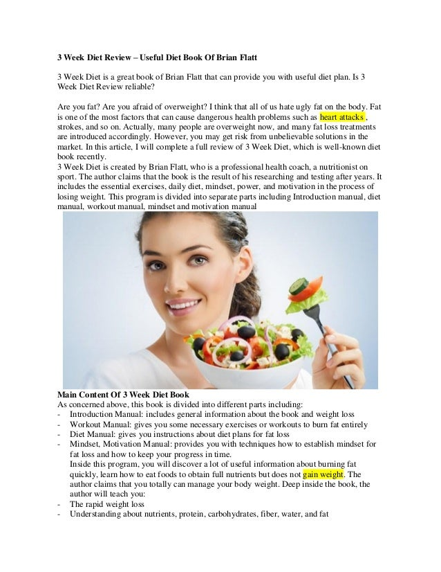 Week Diet Review – Useful Diet Book Of Brian Flatt3 Week Diet is a ...