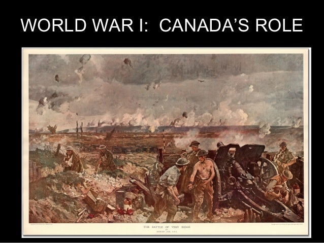 world war i canadas role essay Passionate, courageous, and most importantly, role models for canada the  battle which  and the successes that helped bring an end to world war two  firstly, d-day is  has 1-2 sentences, gives context to the essay and has a hook  to get.