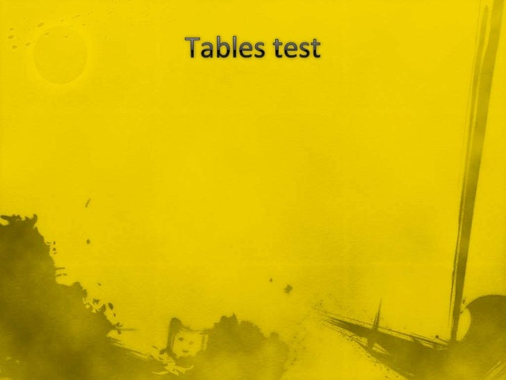 3 x table