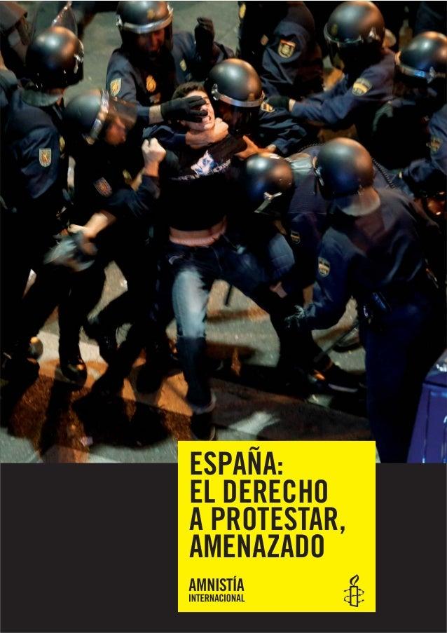 ESPAÑA: EL DERECHO A PROTESTAR, AMENAZADO