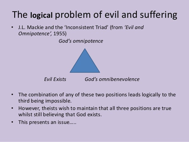 j l mackies the problem with evil Evil and omnipotence jl mackie problem of evil 1 problem of evil proves belief in god irrational (not just non-rational) a when problems are found with proofs for god's existence, believers can claim that god is known in some other, non-rational way.